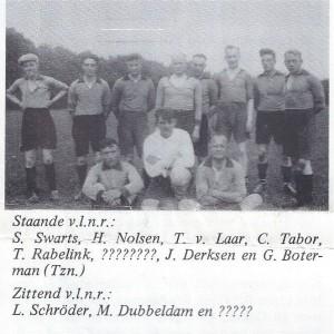 het 1e van S.v. Eerbeekse boys uit 1938